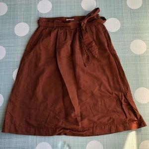 Dockers tie waist skirt